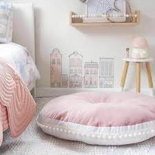 90cm Comfy Thick Round Cushion Play May Crawling Rug In Kids Baby Room Delite Shopping