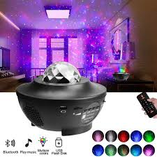 Led Music Star Projector Lamp Bluetooth Voice Control Laser Light Night Light Projector For Kids Bedroom Living Room Decorationstage Lighting Effect In Star Lamp Wish