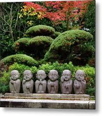cute little monks buddha stone statues