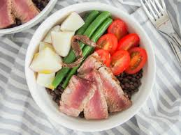 French lentil salad Nicoise-style with ...