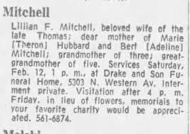 Lillian F Mitchell (Cook) Obituary - Newspapers.com