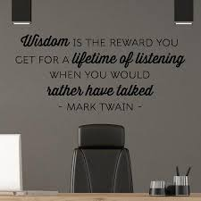 Wisdom Is The Reward Wall Quotes Decal Wallquotes Com