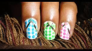 polka dot flip flops nail art hd you