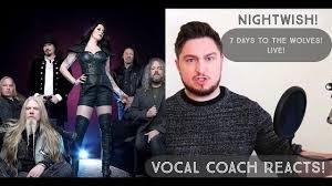 vocal coach reacts nightwish 7 days