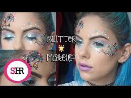 festival glitter makeup tutorial
