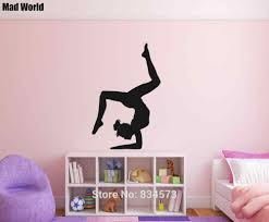 Gymnastics Girl Dancer Gymnast Silhouette Wall Art Stickers Wall Decals Home Diy Decoration Removable Room Decor Wall Stickers Sticker Led Kitchen Diningkitchen Sink Lighting Fixtures Aliexpress