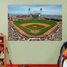 Inside At T Park Mural Sports Wall Decals Baseball Theme Room San Francisco Giants