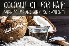 coconut oil for hair when to use