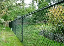 Green Chain Link Mesh Fecing Size 100 Ft Chain Link Fence For Construction