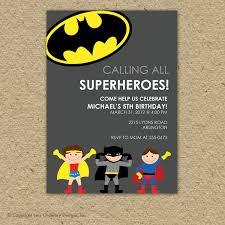 Batman Super Hero Birthday Party Invitation Invitaciones Para