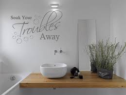 Bathroom Wall Quote Soak Your Troubles Away Wall Art Sticker Decal Transfer