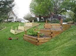 hillside vegetable garden raised bed