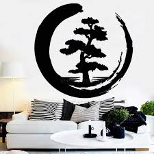 Meditation Zen Style Design Large Tree Vinyl Wall Decal Tree Of Life Circle Buddhism Yoga Studio Wall Stickers Home Decor Lc1016 Wall Stickers Aliexpress