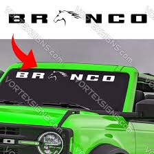 2021 Ford Bronco Windshield Sign Decals Stickers Online