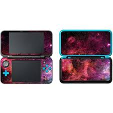 Amazon Com Skinown Vinyl Cover Decals Skin Sticker For New 2ds Xl Starry Sky Red Home Audio Theater