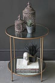 antiqued mirror side table table
