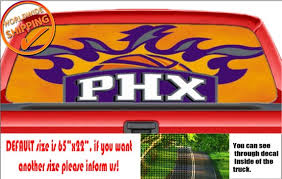 W248 Phoenix Suns Watson Basketball Car Rear Window Perforated Etsy