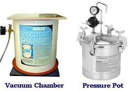 when to use pressure pot and vacuum chamber