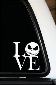 Love Jack Skellington 5 X 5 Vinyl Die Cut Decal Etsy