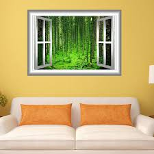 East Urban Home 3d Forest Cling Wall Decal Wayfair