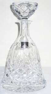 lead crystal glass decanter