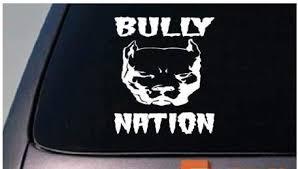 Amazon Com Ez Stik Bully Nation American Pit Bull Pitbull 6 Sticker Decal Apbt Rescue Amstaff Abkcb154 Arts Crafts Sewing