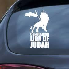 Lion Of Judah Sticker Decal Vinyl Window Bumper Car Rasta Reggae Ethiopia 420 Vw Ebay