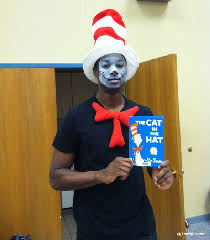 face makeup for cat in the hat