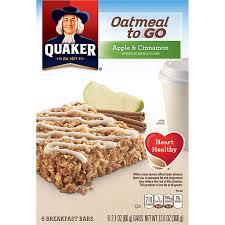 quaker oatmeal to go breakfast bars