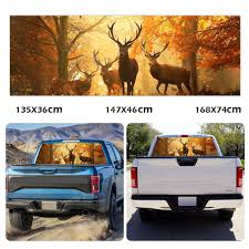 Elks In Woods Rear Window Tint Graphic Decals Stickers For Car Truck Pickup Buy At A Low Prices On Joom E Commerce Platform