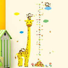 Cartoon Giraffe Height Measure Wall Stickers For Kids Home Decor Diy Art Decal Buy At A Low Prices On Joom E Commerce Platform