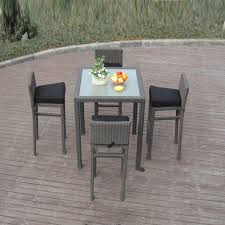 5pcs metal frame bistro pool bar set