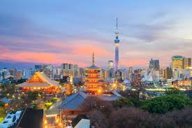 Tokyo Skytree Tokyo Japan City Skyline Illuminated At Sunset Photo Cool Wall Decor Art Print Poster 36x24 Poster Foundry