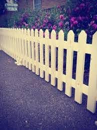 Freestanding Picket Fencing No Post Needed With Rounded Or Pointed Tops Fence Outdoor Free Standing