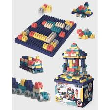 Đồ Chơi Xếp Hình 💎 Lắp Ráp LEGO Các Khối Xây Dựng Trí Tuệ 520 CHI TIẾT  (KÈM THÙNG ĐỰNG LEGO)