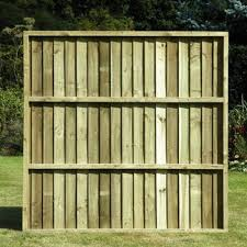 Feather Edge Fence Panel 5ft X 6ft Green Wooden Supplies