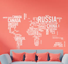 Awesome World Maps Wall Stickers Tenstickers