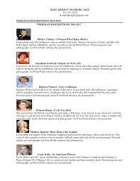 dr rose feinberg list of presentations