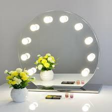 makeup vanity mirror with dimmer round