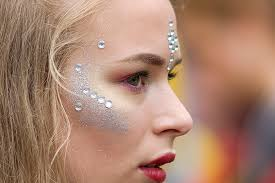 face jewels and face rhinestones design