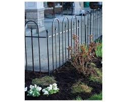 Triple Arch Finial Fence Panel Section In Black