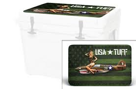 Skin Decal Wrap For Yeti Tundra 45 Qt Cooler Lid Sticker Aztec Deer For Sale Online Ebay