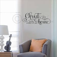 Christ Is The Center Of Our Home Vinyl Lettering Wall Decal 125h X 28l Black You Can Get Additional Details Wall Stickers Murals Vinyl Lettering Wall Decals