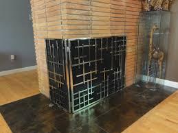 l shape screen fireplace screens