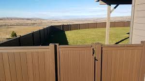 Chestnut Color Vinyl Fence Paradise Fencing Facebook