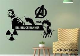 Hulk Wall Decal Dr Bruce Banner Superhero Children Room Vinyl Wall Sticker Gift Ebay