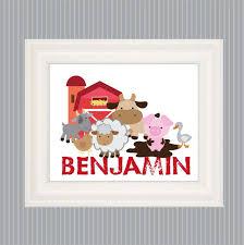 Farm Animal Poster For Kids Kids Farm Art Farm Bedroom Etsy