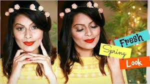 bold orange ombre lips indian makeup