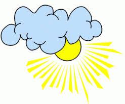 Sonne Mit Wolken Ausmalbild & Malvorlage (Gemischt)