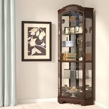 co ferron lighted corner curio cabinet